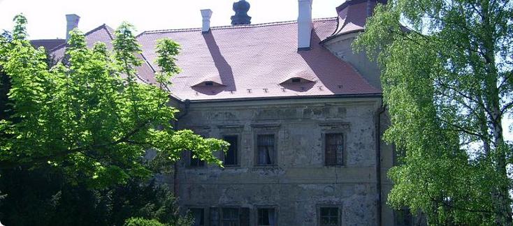 zámek Jezeří - severní průčelí
